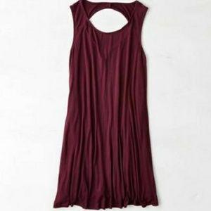 NWT AE Maroon Swing Dress